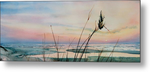 Beyond The Sand Metal Print