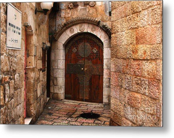 Door In Jerusalem Metal Print