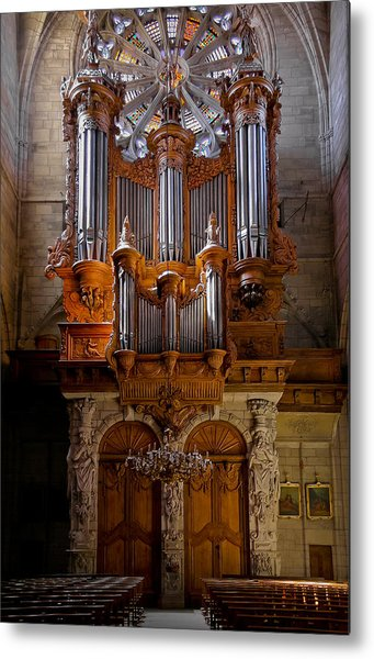 Beziers Pipe Organ Metal Print