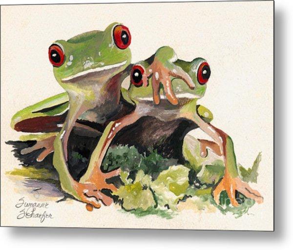Bff Froggies Metal Print
