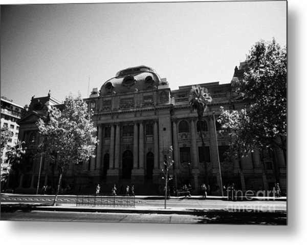 biblioteca nacional de chile national library Santiago Chile Metal Print by Joe Fox