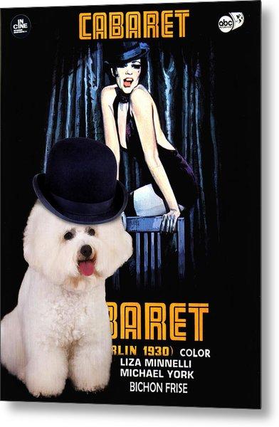 Bichon Frise Art - Cabaret Movie Poster Metal Print