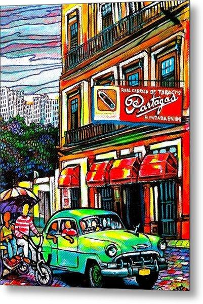 Bici Taxis And Almendrones Metal Print by Arturo Cisneros
