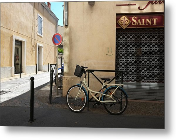 Bicycle Aigues Mortes France Metal Print