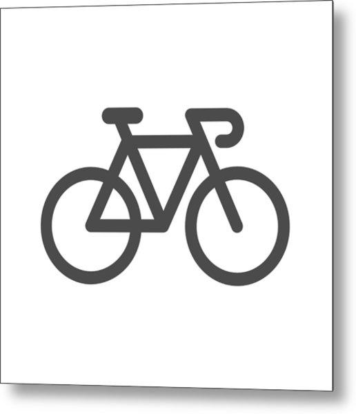Bicycle Icon Metal Print by Rakdee