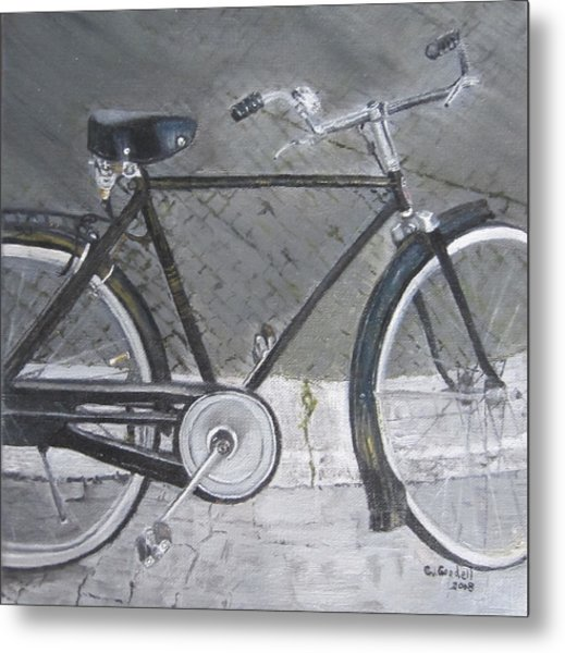 Bicycle In Rome Metal Print