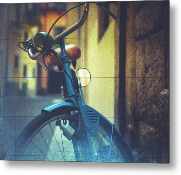 Bicycle Seen Through A Vintage Camera Metal Print by Moreiso