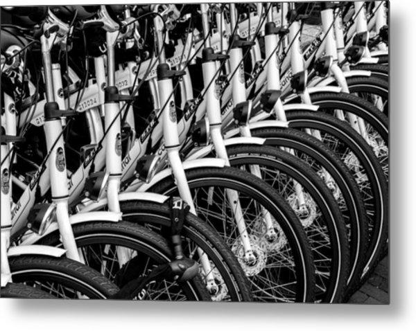 Bicycles Bicycles Bicycles Metal Print