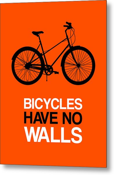 Bicycles Have No Walls Poster 1 Metal Print