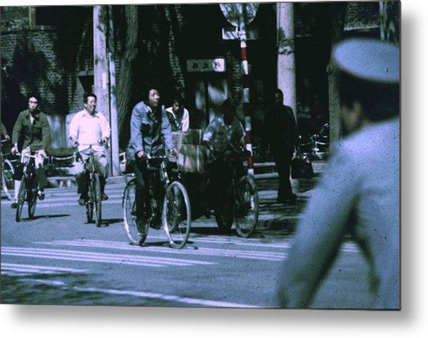 Bicycles In Beijing Metal Print