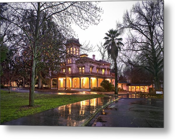 Bidwell Mansion In The Rain  Metal Print