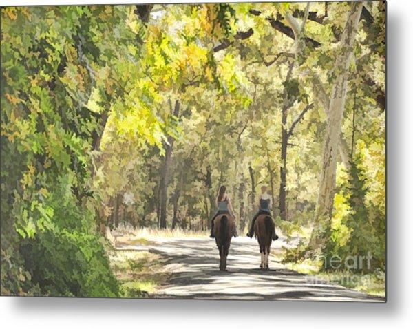 Bidwell Park Horse Trail Metal Print