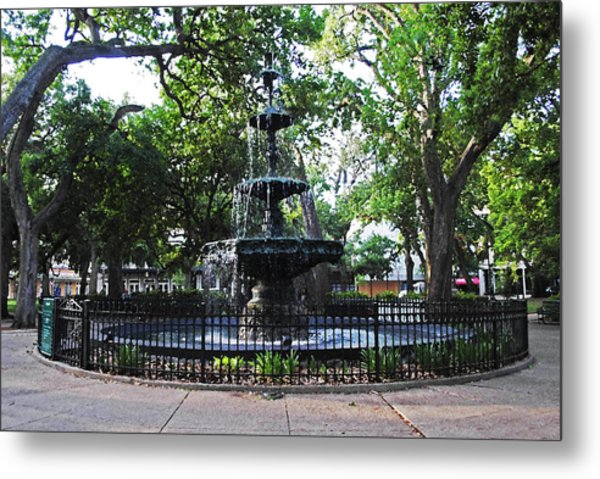 Bienville Fountain Mobile Alabama Metal Print