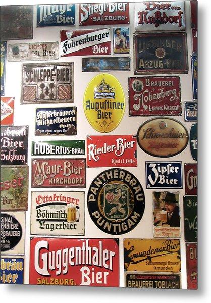 Bier Wall Metal Print