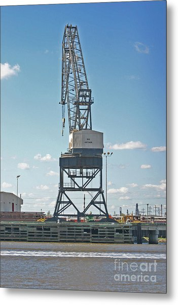 Big Arthur At Port Arthur Texas Metal Print