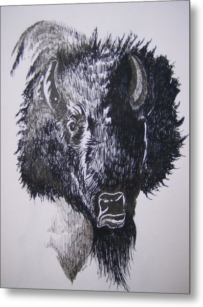 Big Bad Buffalo Metal Print