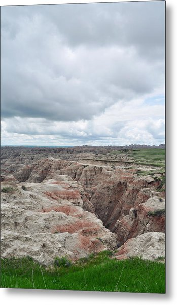 Big Badlands Overlook Metal Print