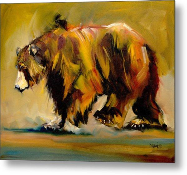 Big Bear Walking Metal Print