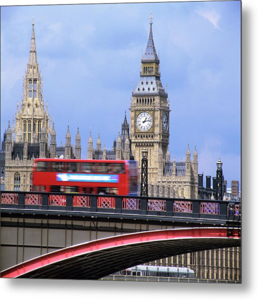 Big Ben And The Houses Of Parliament Metal Print by Mark Thomas/science Photo Library