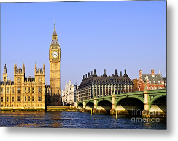 Big Ben And Westminster Bridge Metal Print