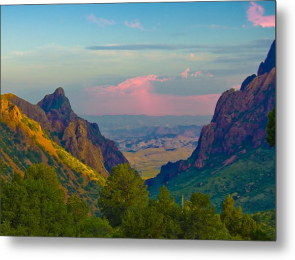 Big Bend Texas From The Chisos Mountain Lodge Metal Print