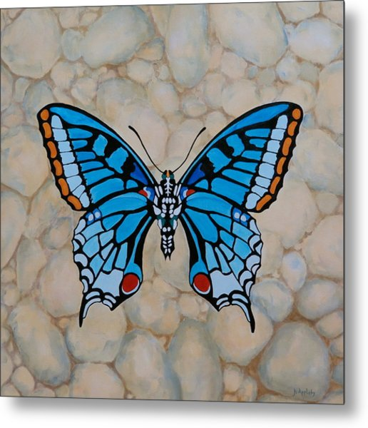 Big Blue Butterfly Metal Print