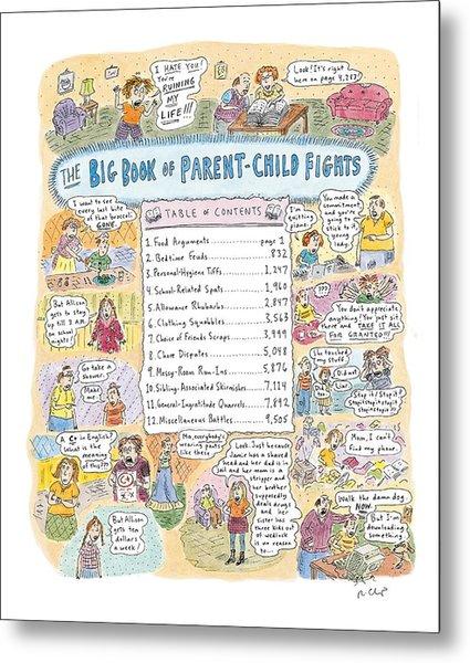 'big Book Of Parent-child Fights' Metal Print