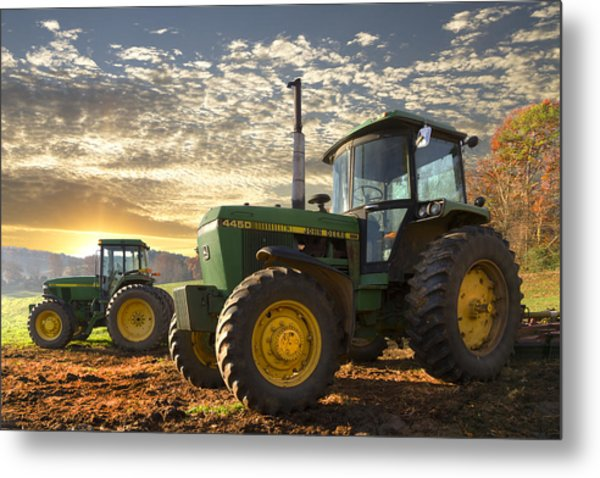 Big Boys' Toys Metal Print