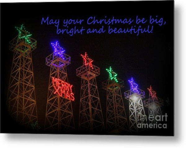 Big Bright Christmas Greeting  Metal Print