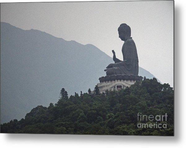 Big Buddha In Hong Kong Metal Print by Lars Ruecker
