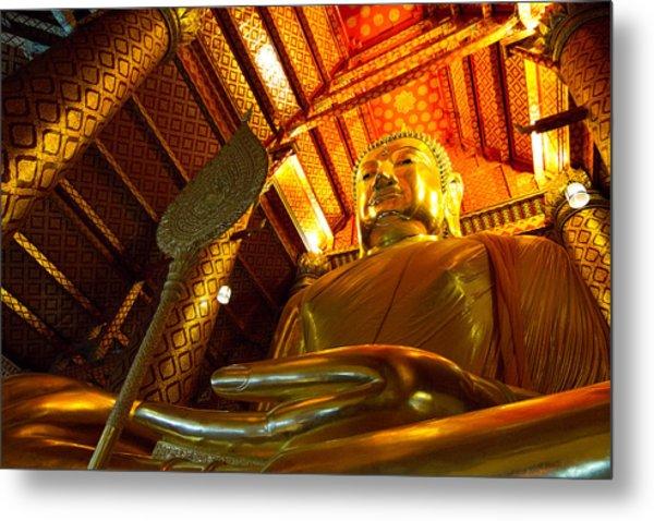 Big Buddha Metal Print by Zestgolf