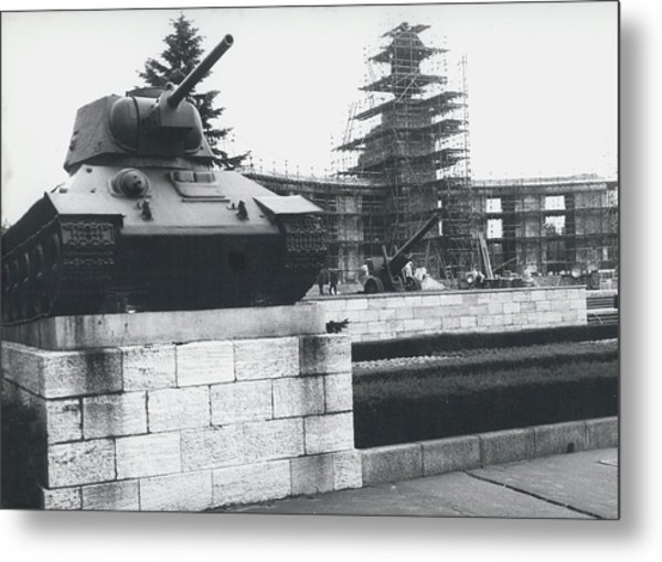 Big Building Site Berlin Metal Print by Retro Images Archive