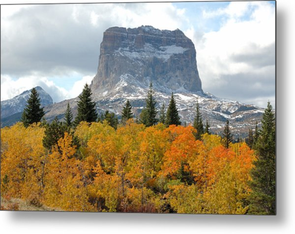 Big Chief Mountain - The Rock Of Legend Metal Print by Clay and Gill Ross