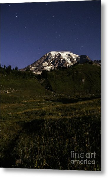 Big Dipper Over Mt Rainier Metal Print