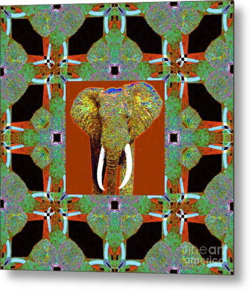 Big Elephant Abstract Window 20130201p20 Metal Print by Wingsdomain Art and Photography