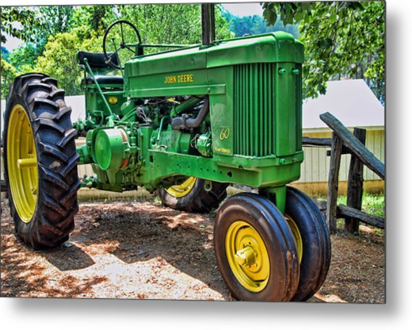 Big Green Metal Print