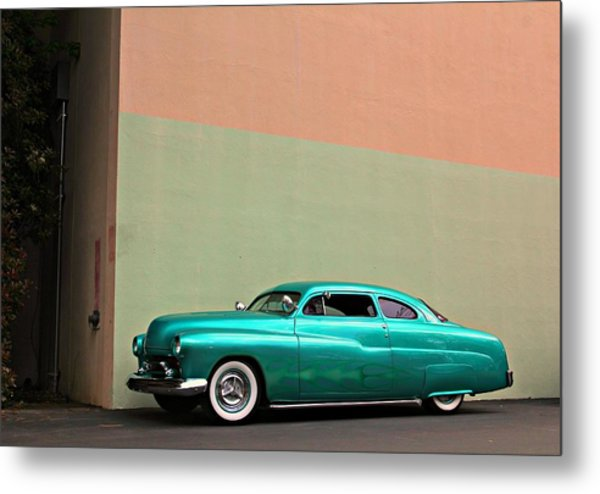 Big Green Merc Just Around The Corner Metal Print