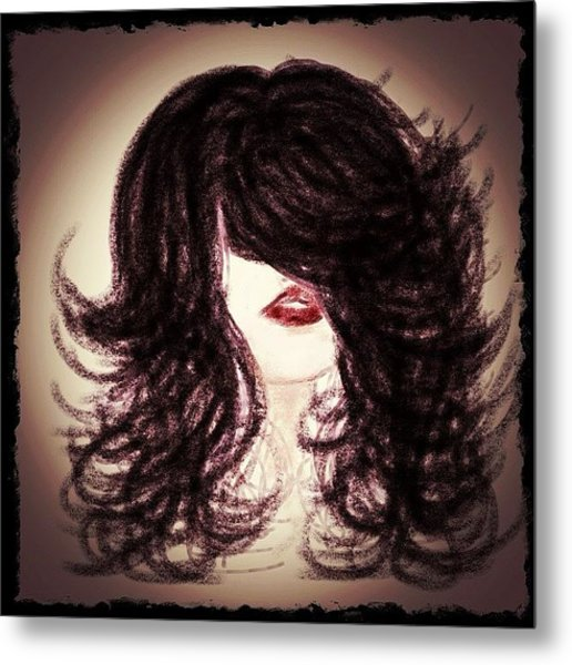 Big Hair Rocks Metal Print by Go Inspire Beauty