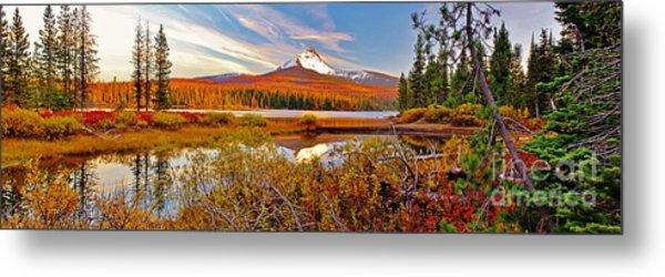 Big Lake And Mt Washington Oregon Metal Print