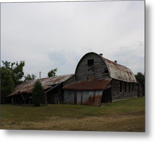 Big Old Barn Metal Print by Terry Scrivner