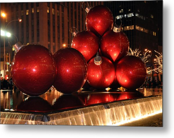 Big Red Balls Metal Print