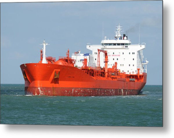 Big Red Tanker Metal Print