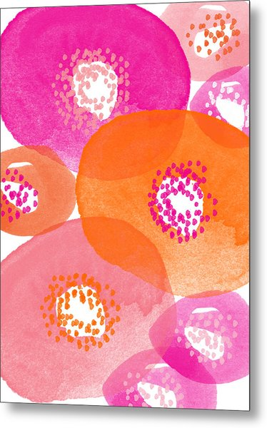 Big Spring Flowers- Contemporary Watercolor Painting Metal Print