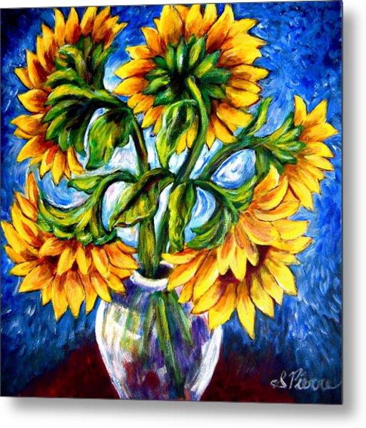 Big Sunflowers Metal Print