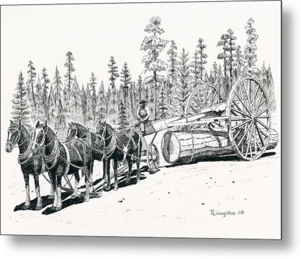 Big Wheels Metal Print