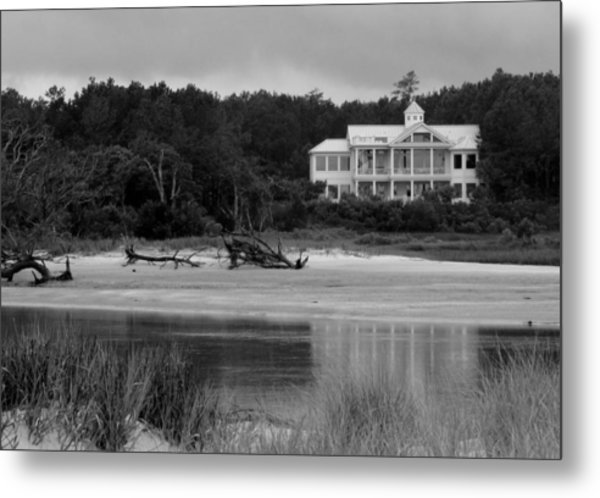 Big White House Metal Print