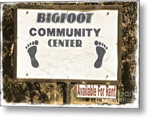 Bigfoot Evidence Metal Print