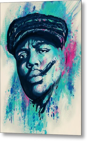 Biggie Smalls Modern Art Drawing Poster Metal Print