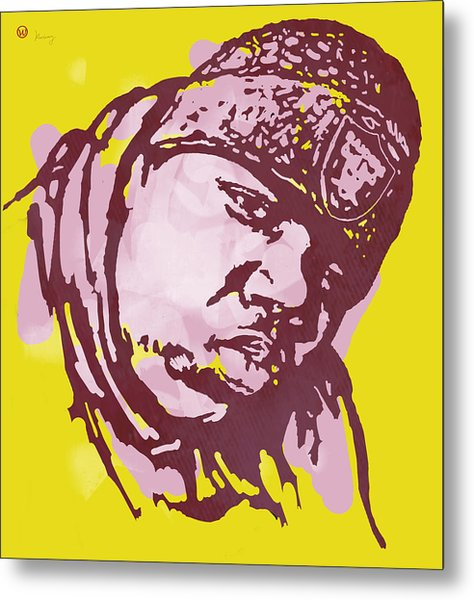 Biggie Smalls Modern Colour Etching Art  Poster Metal Print