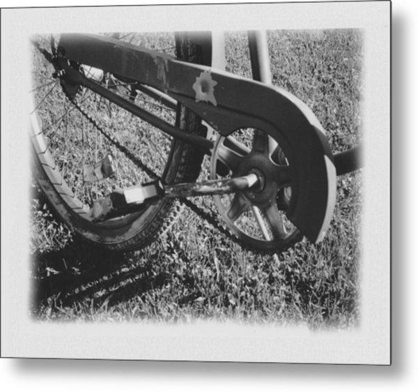 Bike Metal Print by Brady D Hebert